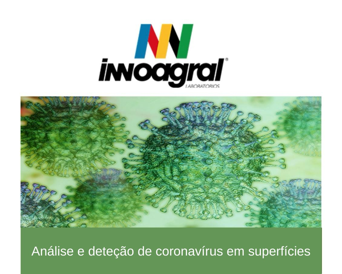 análise e deteção de coronavírus (SARS-CoV-2) em superfícies